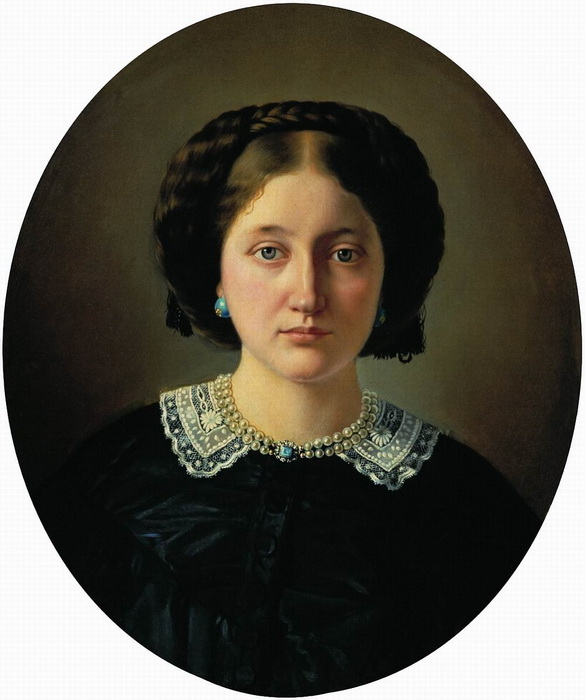 С. Зарянко. Портрет В.А. Иордан, урожденной Пущиной