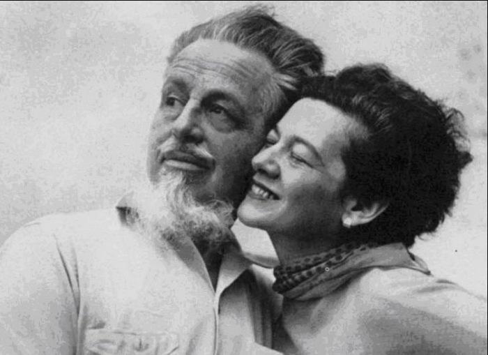 Рекс Стаут со второй женой Полой Хоффман