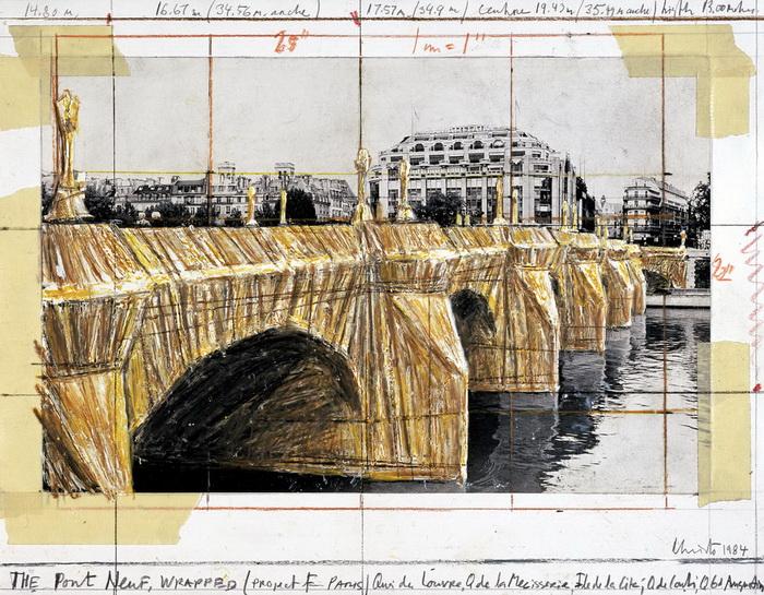 Эскиз Нового моста в Париже (Понт-Неф)