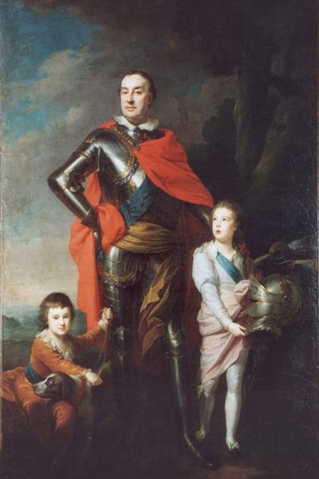 Ксаверий Браницкий с сыновьями