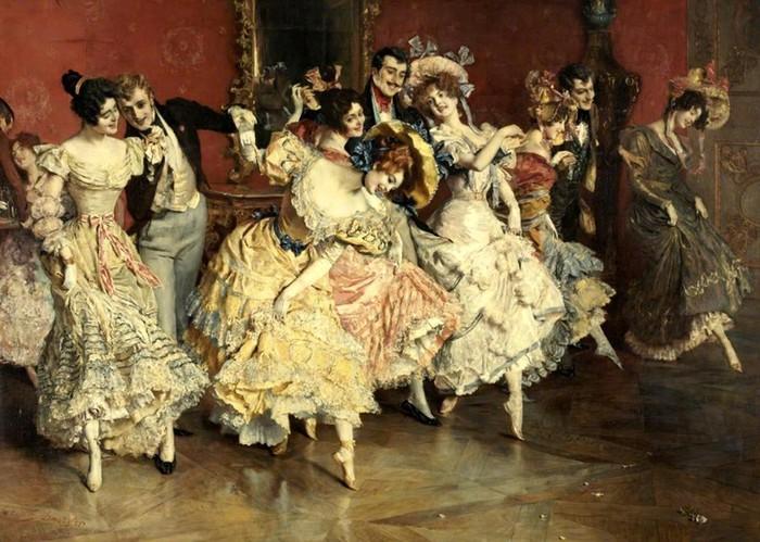 Менуэт, как и другие танцы на балах, требовал определенных физических усилий и выносливости