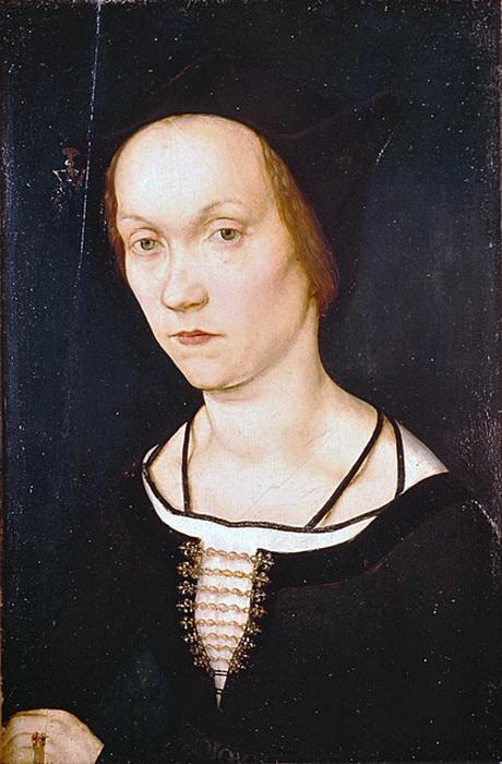 Г. Гольбейн Старший. Портрет женщины. В произведениях отца еще видны отголоски средневековой живописи