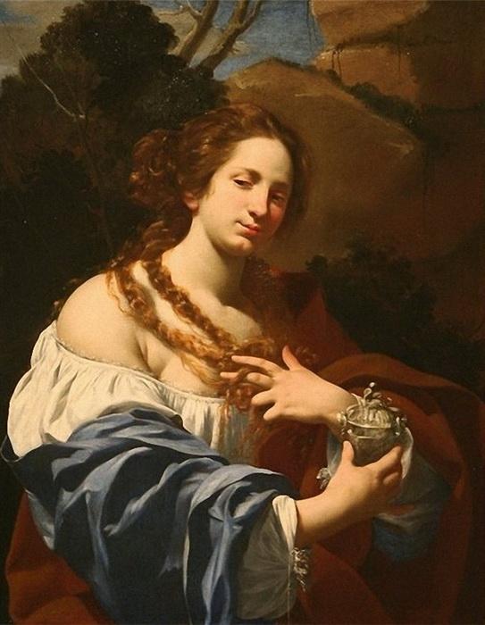 """С. Вуэ. """"Портрет Виржинии да Веццо в образе Магдалены"""""""