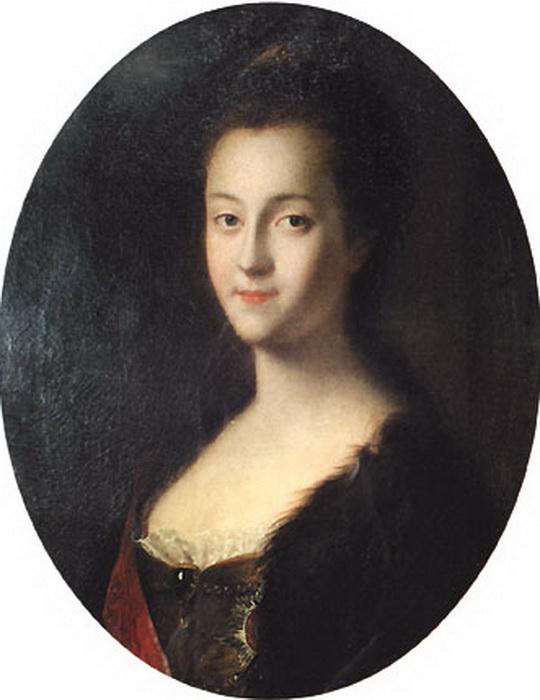 Будущая императрица Екатерина II вскоре после прибытия в Россию