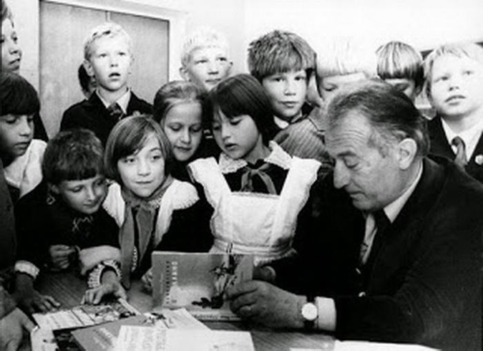 Родари со школьниками