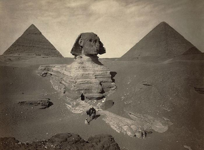 Большой Сфинкс. Фото около 1878 года