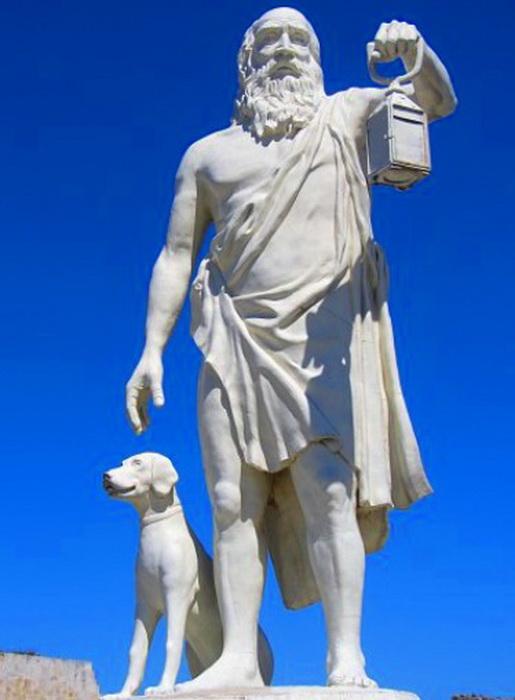 Памятник Диогену в его родном городе Синопе