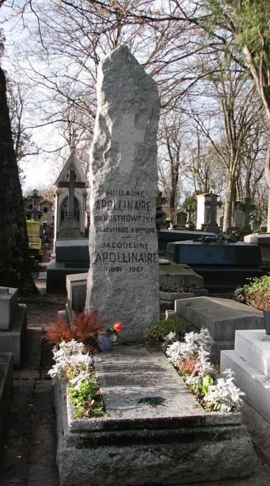 Могила Гийома Аполлинера