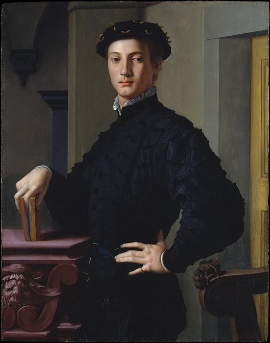 А. Бронзино. Портрет молодого человека с книгой