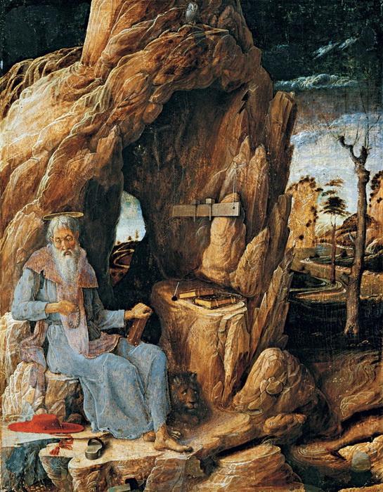 А. Мантенья. Святой Иероним в пустыне.