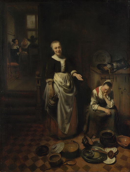 Николас Мас, мастер жанровых сцен, один из последних представителей Золотого века голландской живописи