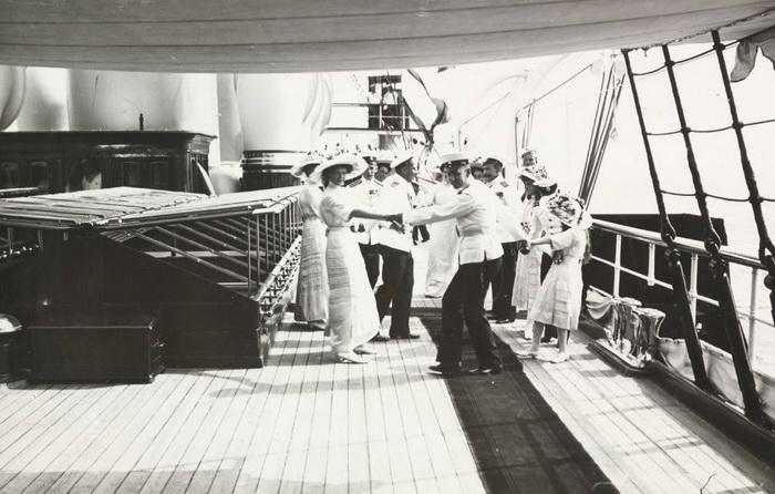 На императорской яхте
