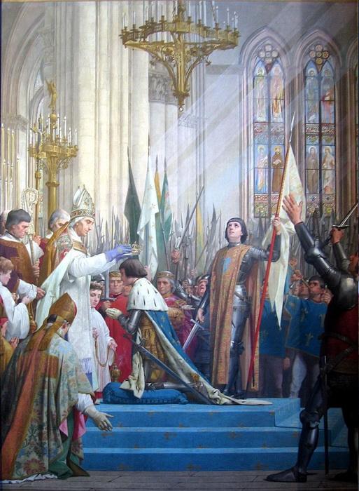 Ж.Э. Ленепве. Коронация Карла VII в Реймсе