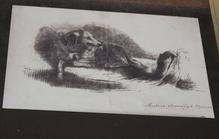 Рисунок А. Пушкина. Благодаря тому, что занятия рисованием проводились ежедневно, все воспитанники Лицея прекрасно владели кистью и карандашом