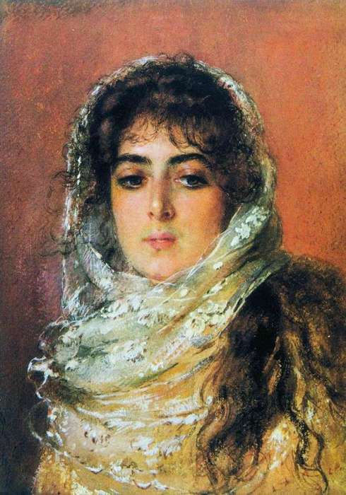 Константин Маковский. Портрет жены художника