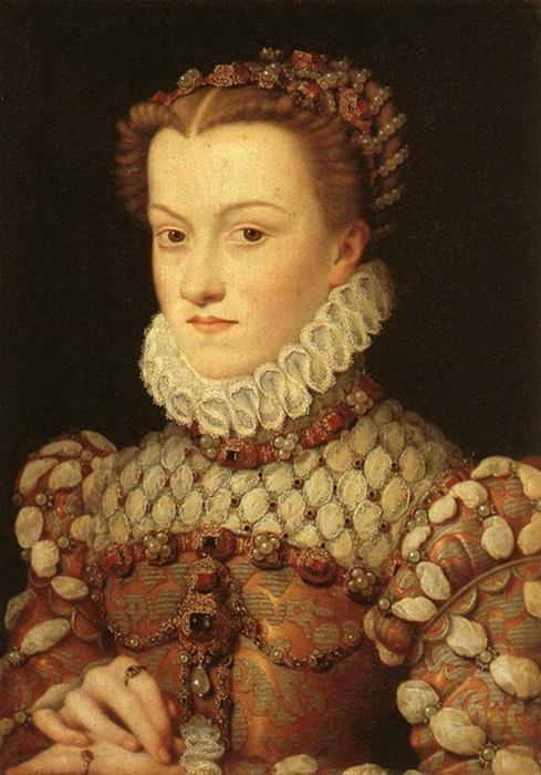 "Ф. Клуэ. ""Елизавета Австрийская, королева Франции"""