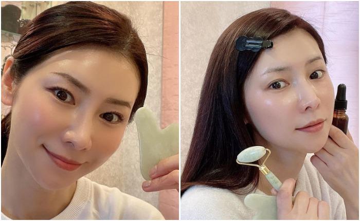 Костяной гребень гуаша и нефритовый ролик - популярные у японок приспособления для массажа лица. Источник: mizutanimasako/instagram