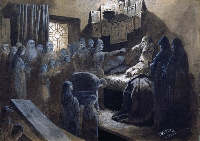 """М. Клодт """"Иван Грозный и тени его жертв"""""""