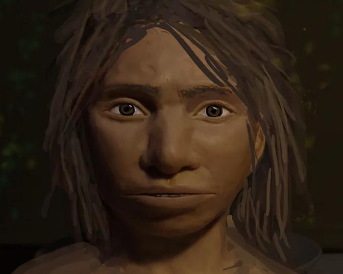 Реконструкция денисовского человека (женщины) по скелету, найденному в Денисовой пещере в Алтайском крае