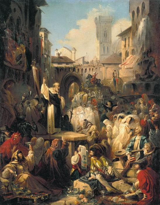Н.П. Ломтев. Проповедь Савонаролы во Флоренции