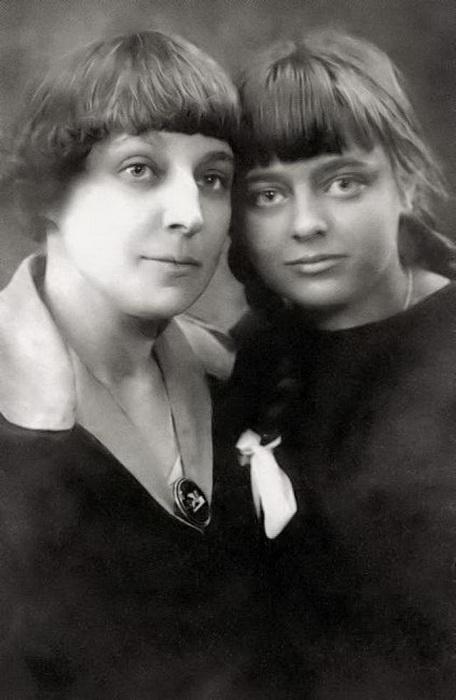 Цветаева с дочерью Ариадной (Алей)