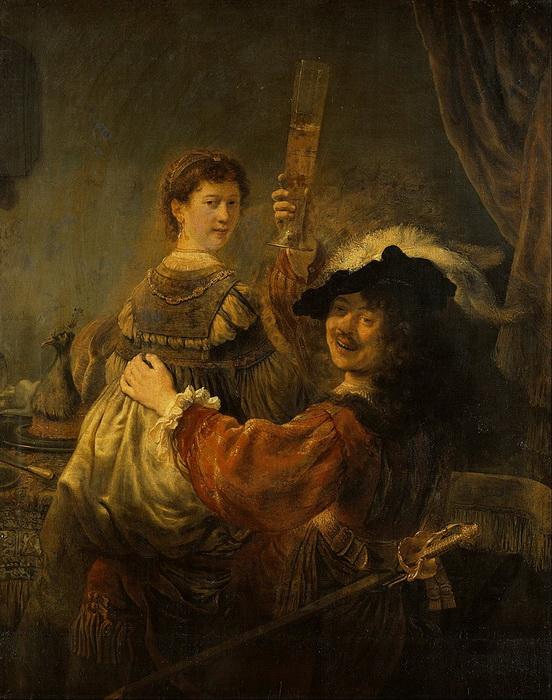 """Рембрандт. """"Блудный сын в таверне"""""""