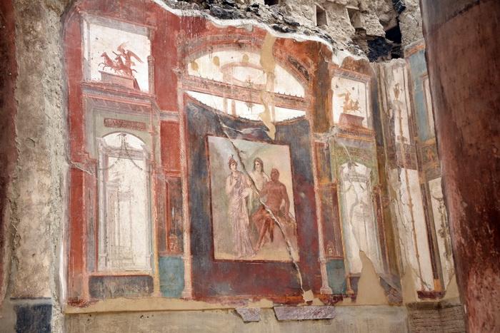 Древнеримская фреска, г. Геркуланум