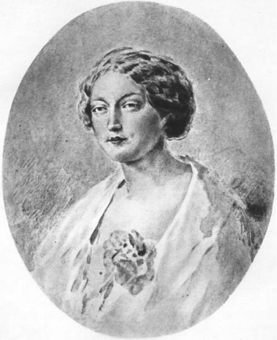 С. Шениц. Мария Калергис в 1865 году