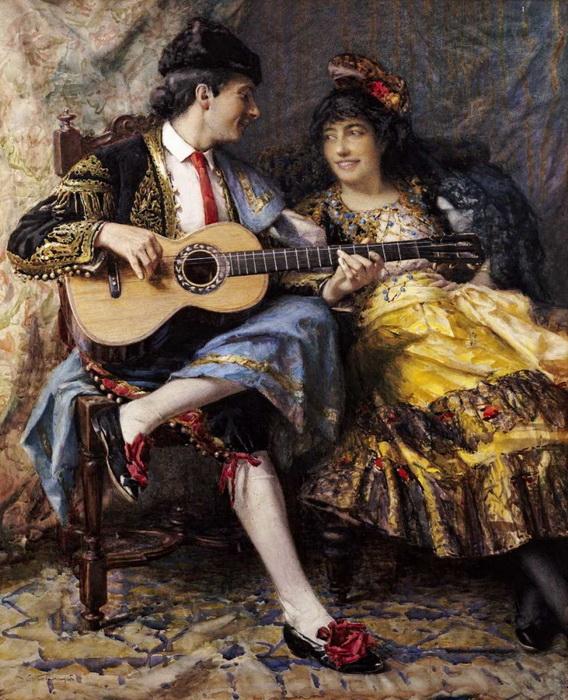 А.А. Баррингтон. Испанский певец и его дама