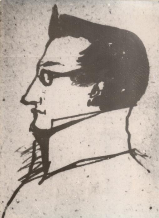 Набросок портрета Раевского рукой Пушкина