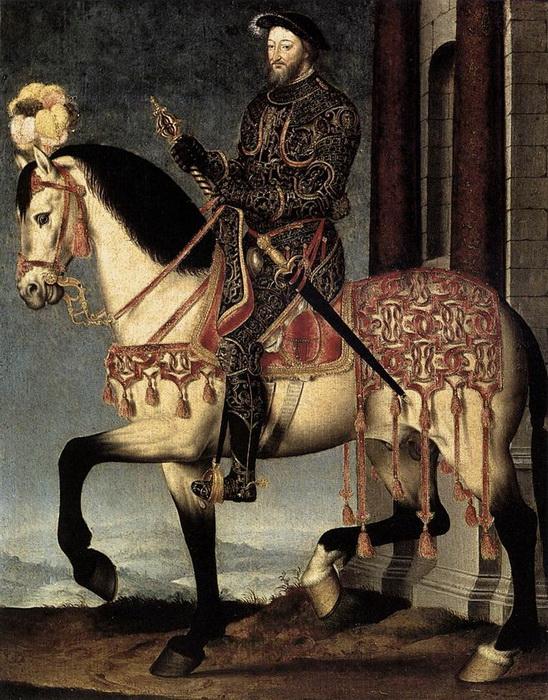 """Жан и Франсуа Клуэ. """"Конный портрет короля Франциска I"""""""