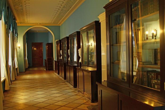 Переход из здания лицея во дворец был закрыт, в нем разместилась лицейская библиотека