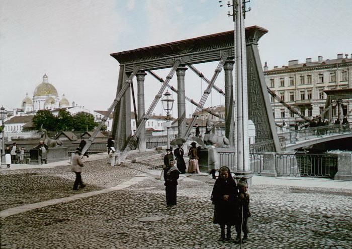 Египетский мост в 1896 г.