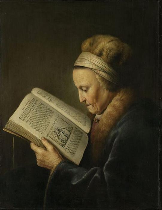 На картине «Женщина, читающая Библию» Доу, возможно, изобразил мать Рембрандта