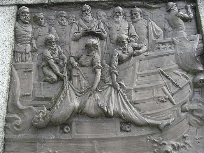 Дж. Бем «Похороны Дрейка в море»