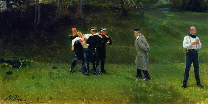 Первая часть четверной дуэли состоялась под Петербургом 12 ноября 1817 года