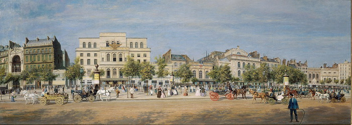 Бульвар дю Тампль в Париже в 1862 году