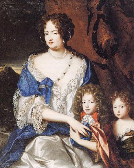 Портрет Софии Доротеи и ее детей работы Ж. Вайланта