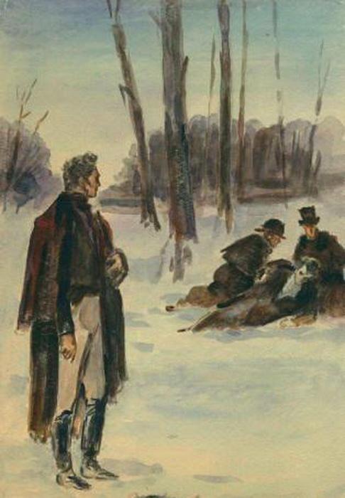 Несмотря на запреты, дуэли продолжали оставаться способом решить конфликт между дворянами на протяжении всего XIX века