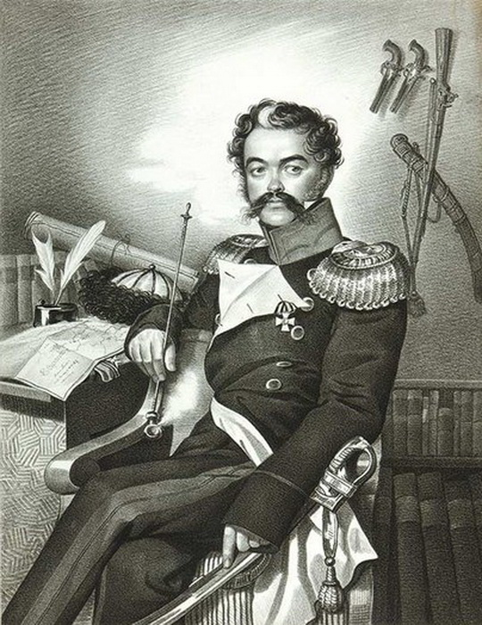 К. Гампельн. Портрет Д.В. Давыдова. Современники считали, что этот портрет отличается особенным сходством с оригиналом