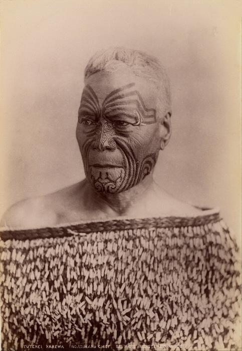 Вождь племени маори в начале XX века