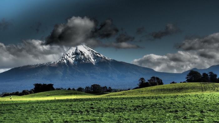 Новозеландский пейзаж, гора Таранаки