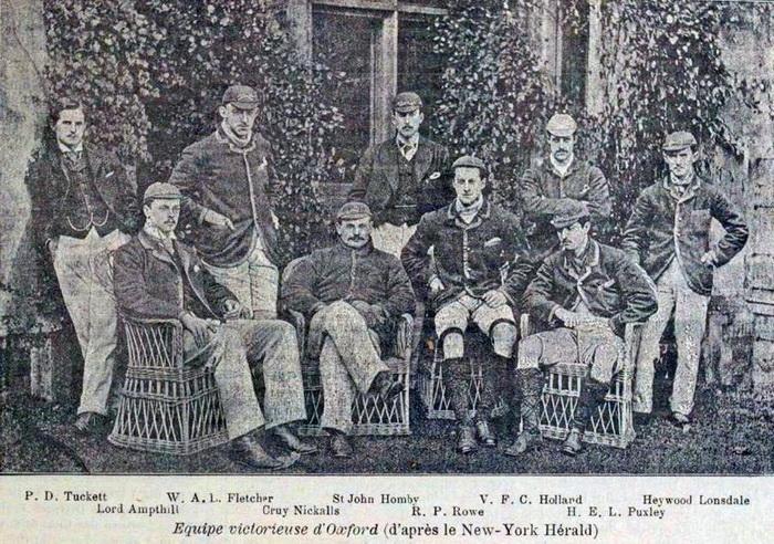Победители регаты 1890 года: Оксфорд