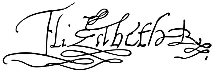 Подпись Елизаветы I