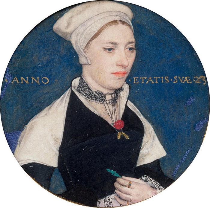 Г. Гольбейн-мл. Портрет миссис Джейн Смолл (миниатюра)