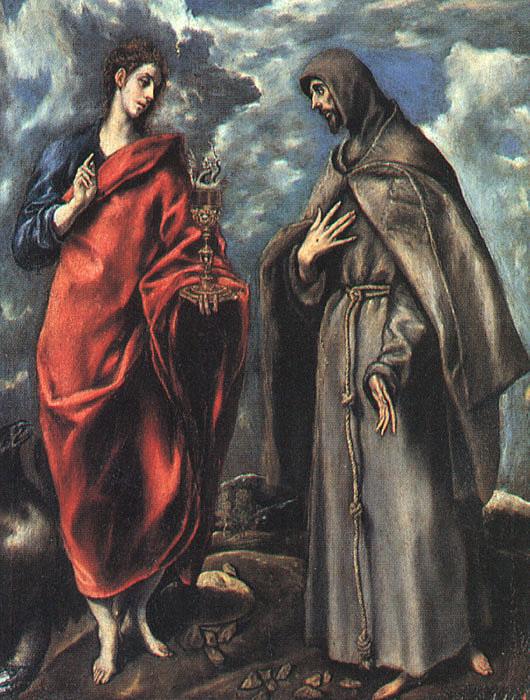 """Эль Греко """"Святой Иоанн Евангелист и святой Франциск Ассизский"""""""