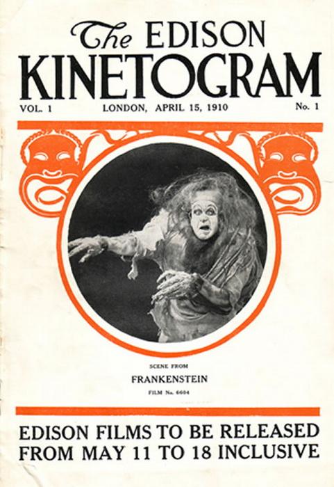 В 1910 году была выпущена первая экранизация романа - ей стал фильм «Франкенштейн». Долгое время он также считался утраченным