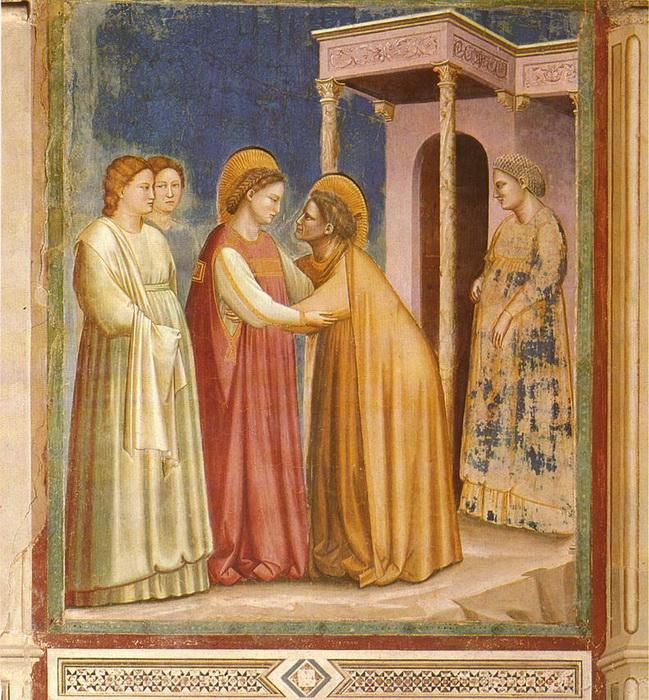 Джотто. Встреча Марии и Елизаветы (фреска)