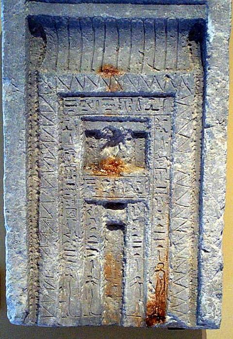 Ложная дверь в египетской гробнице