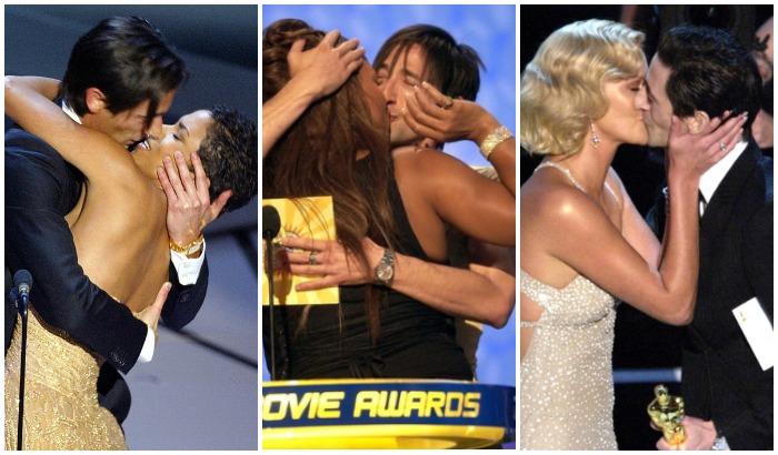 Поцеловать партнершу по сцене во время церемонии награждения стало «фишкой» Броуди: с Холли Берри, Куин Латифой и Шарлиз Терон